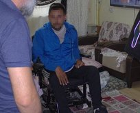 Tekerlekli sandalyeyle uyuşturucu satıyordu baskında yakalandı