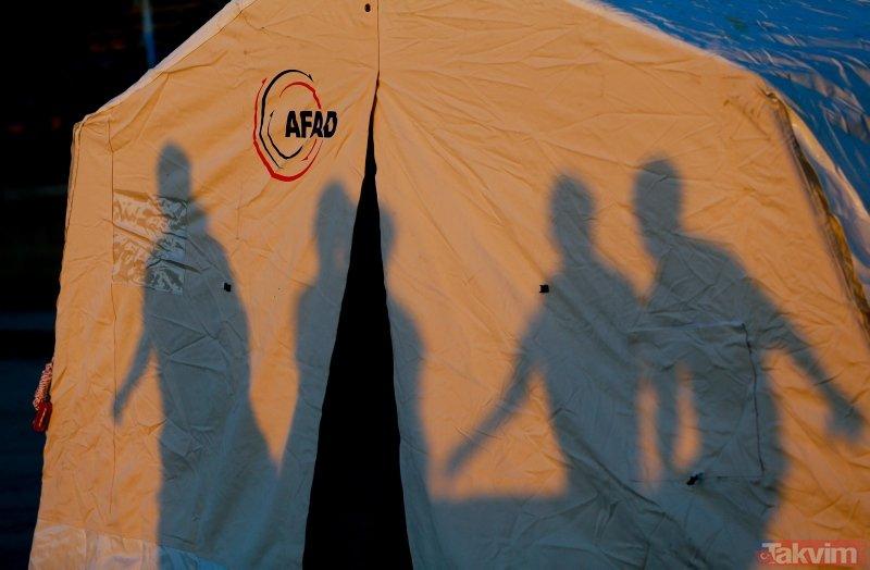 Denizli'deki deprem sonrası depremzedeler çadırlara yerleşmeye başladı