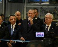 Başkan Erdoğan kurdeleyi kesti