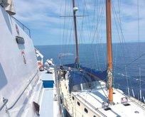 Lüks tekneden mülteci çıktı