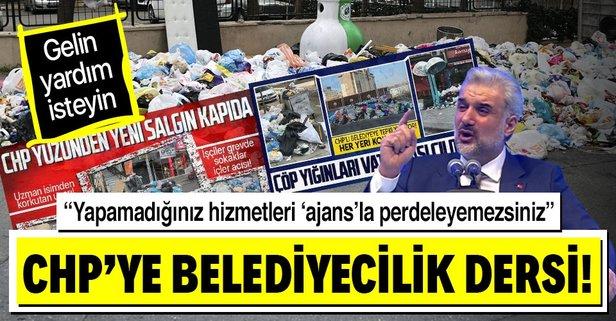 Kapaktepe'den CHP'ye çöp göndermesi!