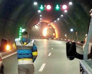 Sabuncubeli Tüneli yangın nedeniyle ulaşıma kapatıldı