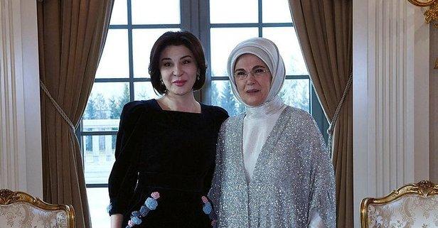 Emine Erdoğan, Mirziyoyev'in eşi ile görüştü