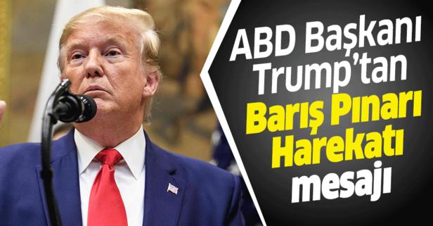 Trump'tan 'Barış Pınarı Harekatı' açıklaması