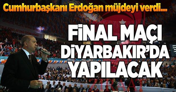 Cumhurbaşkanı Erdoğandan Diyarbakıra müjde
