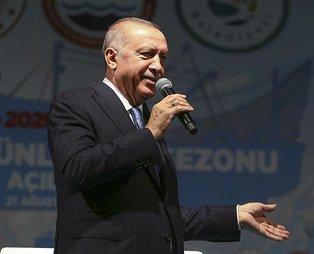 Başkan Recep Tayyip Erdoğan'dan balıkçılara müjde