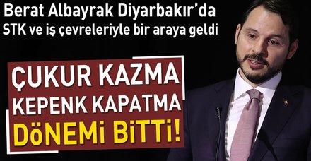 Berat Albayrak Diyarbakır'da STK ve iş çevreleriyle buluştu