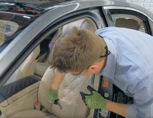 YouTuber baba Mercedes'in koltuğunu kesip biçti! İçinden bakın neler çıktı!