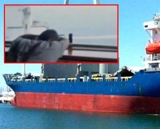 İşte saldırıya uğrayan Türk gemisinden ilk görüntüler