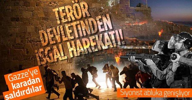 İşgalci İsrail'den Gazze'ye kara saldırısı!
