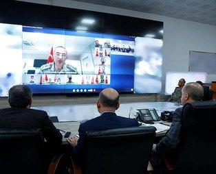 Başkan Erdoğan, Barış Pınarı Harekat bölgesine video konferans sistemiyle bağlandı