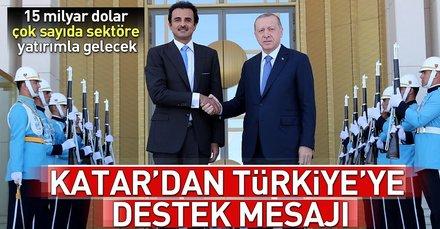 Katardan Türkiyeye destek mesajı