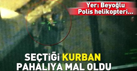 İstanbulda polis helikopterine lazer tutan şüpheli yakalandı