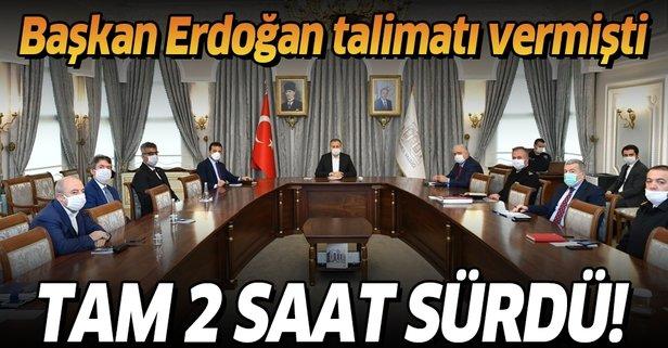 Erdoğan talimatı vermişti! Tam 2 saat sürdü