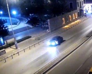 Polisi 400 metre kaputa asılı halde sürükledi!