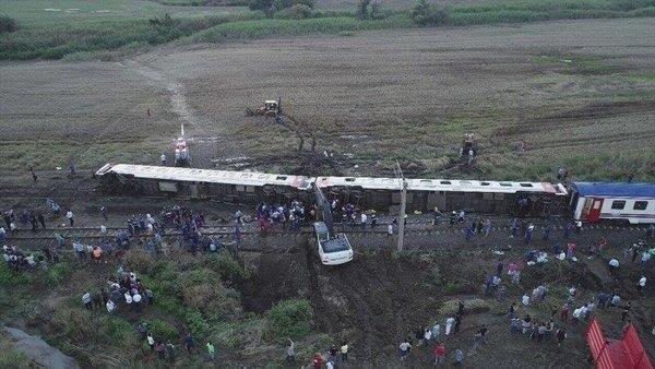 Tekirdağ çorluda Tren Vagonu Devrildi 10 ölü 73 Yaralı