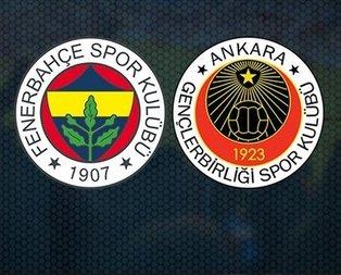 Fenerbahçe Gençlerbirliği maçı canlı anlatım