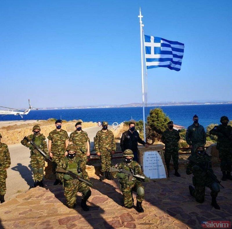 Yunanistan yine tahrik peşinde! Skandal fotoğrafı bu sözlerle paylaştılar! Dikkat çeken İzmir detayı!
