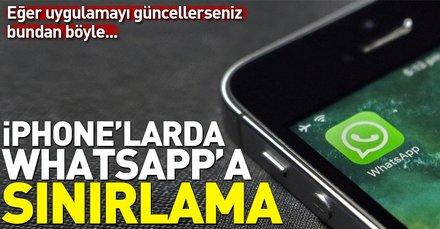 WhatsAppa iPhonelarda sınırlama
