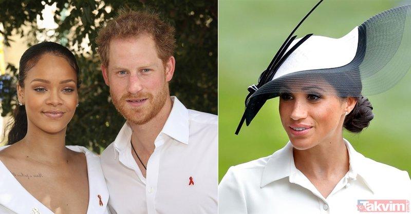 Rihanna'nın Londra sevdasının nedeni Prens Harry mi? Meghan Markle'a dişli rakip!