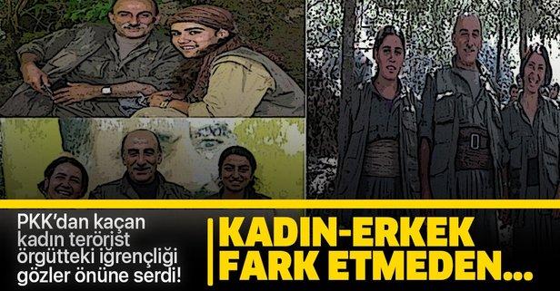 PKK'dan kaçan kadın terörist örgütteki iğrençliği anlattı!
