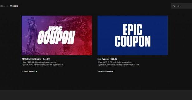 Epic Games 60 TL indirim kuponu dağıtıyor! Epic Games 60 TL indirim kuponu nasıl alınır?