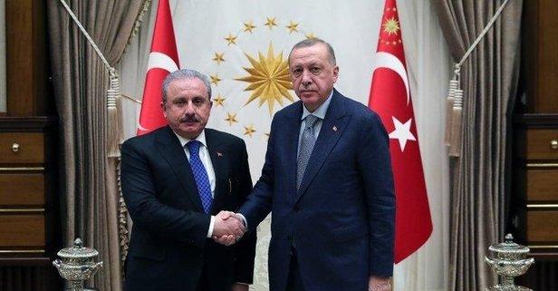 Başkan Erdoğan, Şentop'u kabul etti