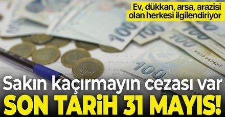 Son tarih 31 Mayıs! Ev, dükkan, arsa, arazi sahipleri dikkat! Sakın kaçırmayın cezası var...