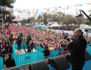Başkan Erdoğan Muğla'da böyle karşılandı! Erdoğan'a büyük sevgi seli...
