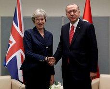 Başkan Erdoğan Theresa May görüştü
