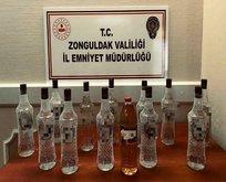 Zonguldak'ta kaçak sahte içki operasyonu