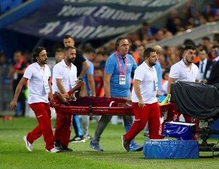 Sakatlıklar Trabzonspor'un yakasını bırakmıyor! Ivanıldo Fernandes sahayı sedyeyle terk etti!