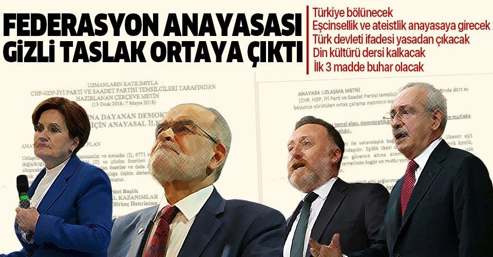 İşte CHP-İP-HDP-SP dörtlüsünün anayasa taslağı