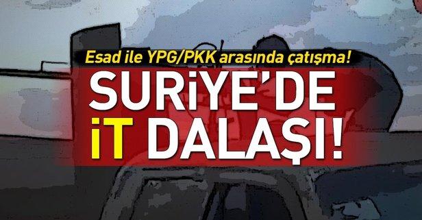 Esed güçleri ile YPG/PKK Hasekede çatıştı