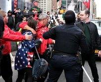 Trump karşıtları New York'ta terör estirdi