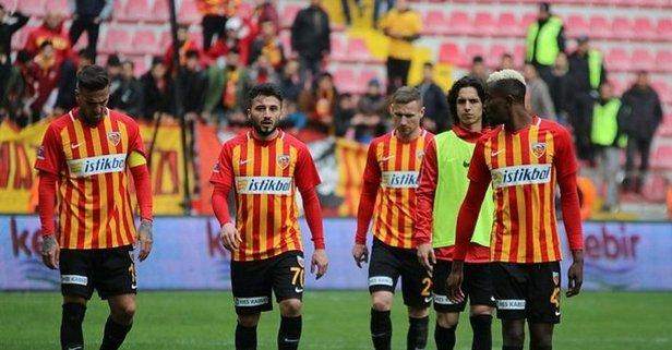 Kayserispor ile Gaziantep FK 1-1 berabere kaldı