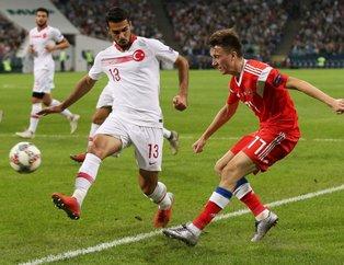 A Milli Takımımız, UEFA Uluslar Ligindeki üçüncü maçında Rusyaya 2-0 mağlup oldu