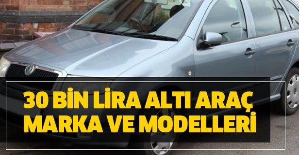 en ucuz ikinci el araba modelleri