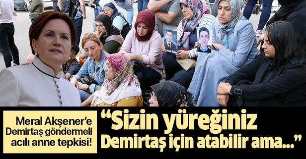 Akşener'e Demirtaş göndermeli acılı anne tepkisi!