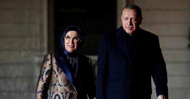 Başkan Erdoğan Picasso Bleu et Rose Müzesi'nde