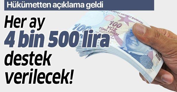 Bakan Varank açıkladı: Aylık 4 bin 500 lira verilecek