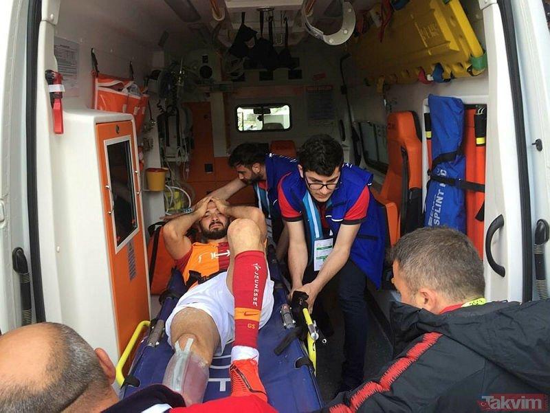 Galatasaraylı Emre Akbaba'nın sakatlanma anı çok konuşulmuştu! Meğer...