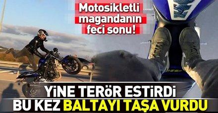 Tuzlada motosikletle terör estiren magandanın feci sonu!