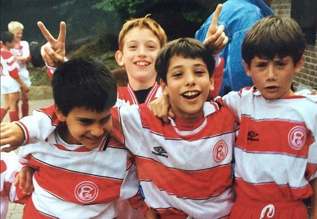 Futbolcuların gençlik halleri