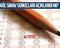 AÖL sınav sonuçları 2021!