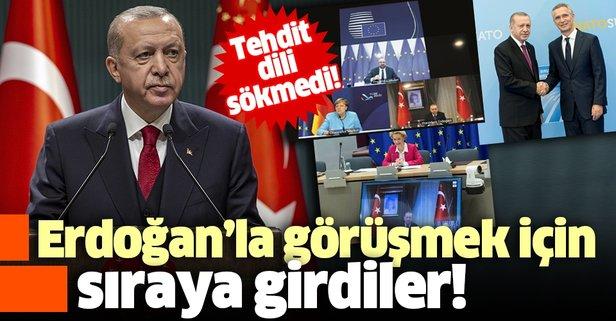 Erdoğan'la görüşmek için sıraya girdiler