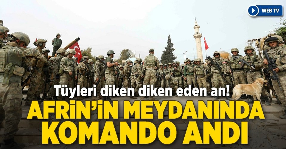 Afrinde Mehmetçikten komando andı