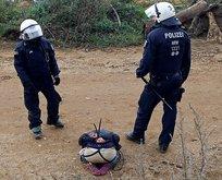 Alman polisi Hambach Ormanı'ndaki çevrecileri yaka paça dışarı attı