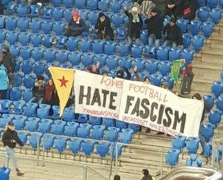 Basel-Trabzon maçında PKK/YPG provokasyonu!