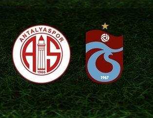 Trabzonspor galibiyet peşinde! İşte Antalyaspor-Trabzonspor maçının 11'leri
